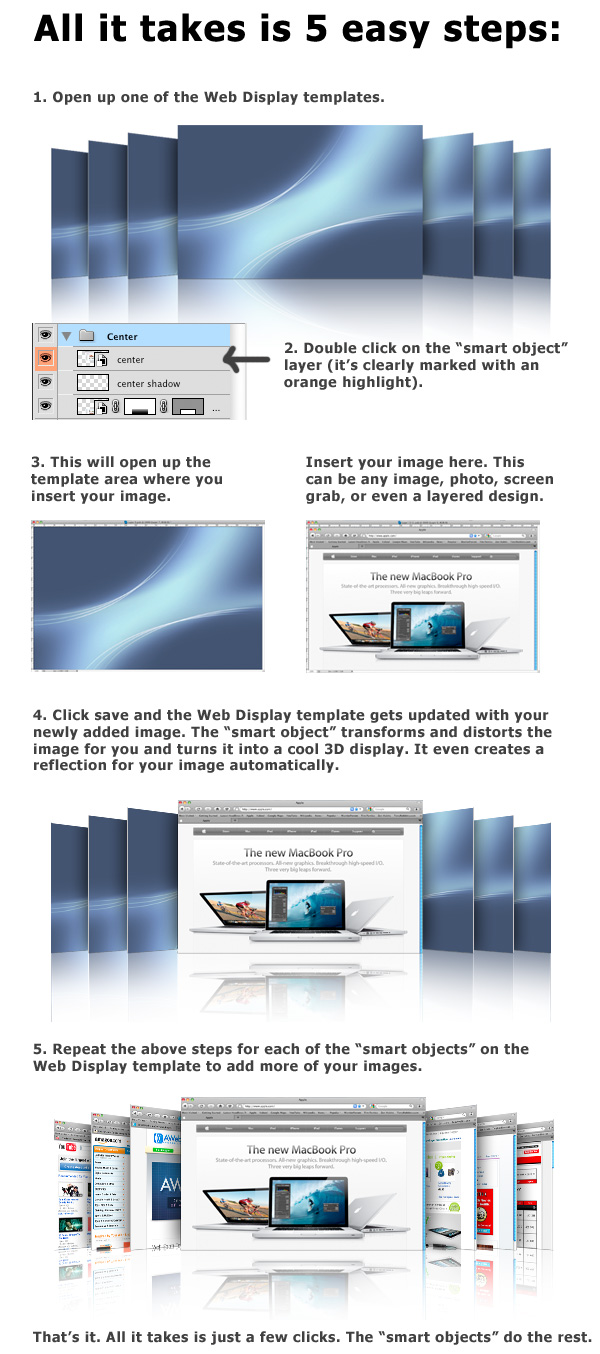 3D Web Display Maker For Photoshop